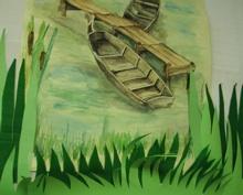 Oslikano Lonjsko polje iz Područne osnovne škole repušnica