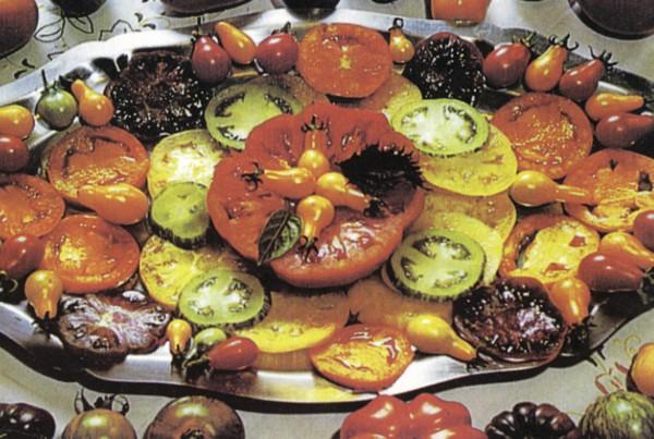 Poslužene različite sorte zrele rajčice (Dokumentacija Miće Brkanovića)